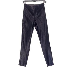 AMERICAN APPAREL HIGH WAISTED SHINY STRETCH PANT